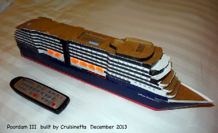 Cruisinetta Builds A Tiny Model Ship Poordam III Cruise Critic - Remote control cruise ship